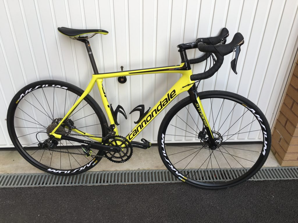 Yellow Cannondale Synapse